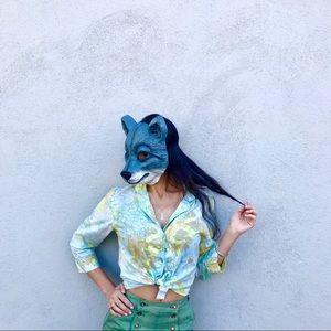 Vintage floral blouse!